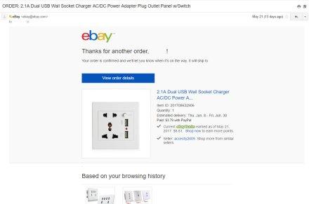 ebay potvrda porucivanja