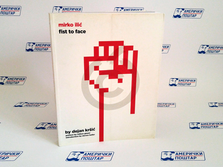 Mirko Ilić bela knjiga na Američki poštar pozadini