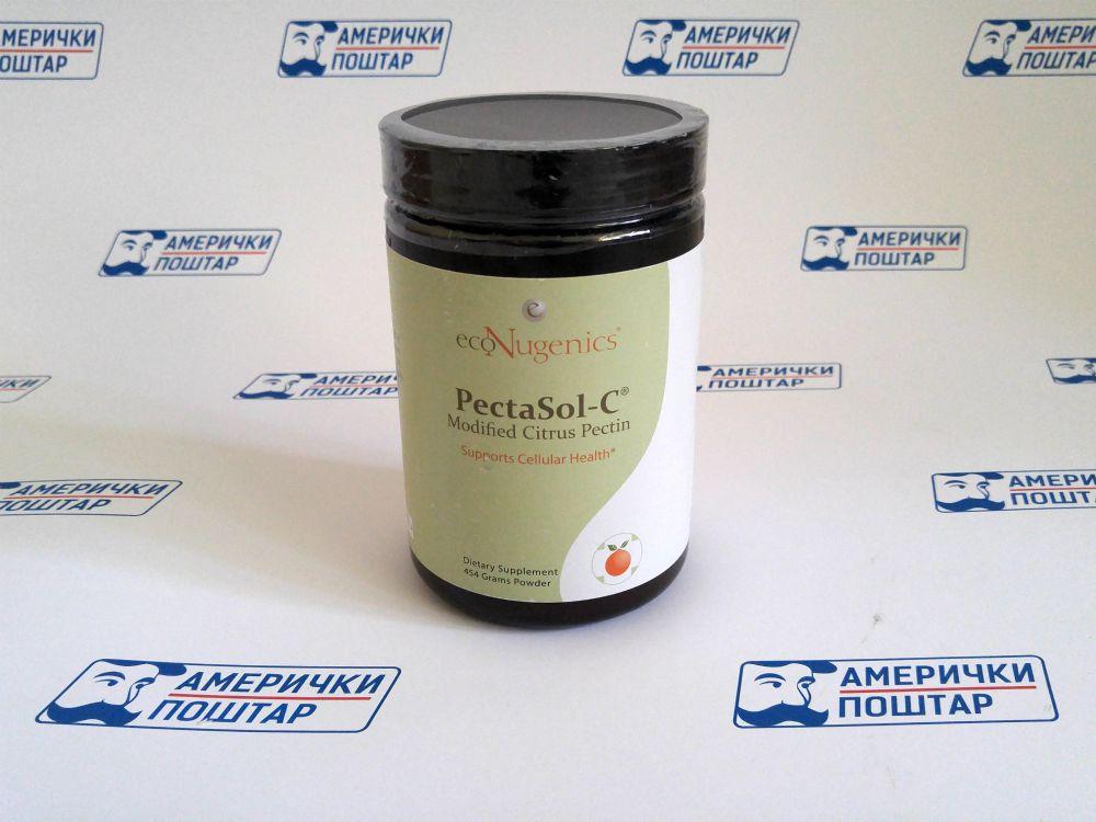 PectaSol-C zelena bočica sa crnim poklopcem na Američki poštar pozadini