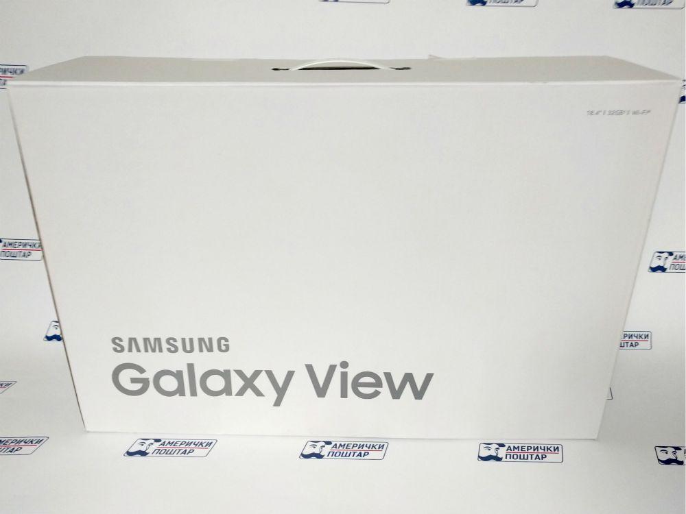 Samsung Galaxy View bela kutija na Američki poštar pozadini