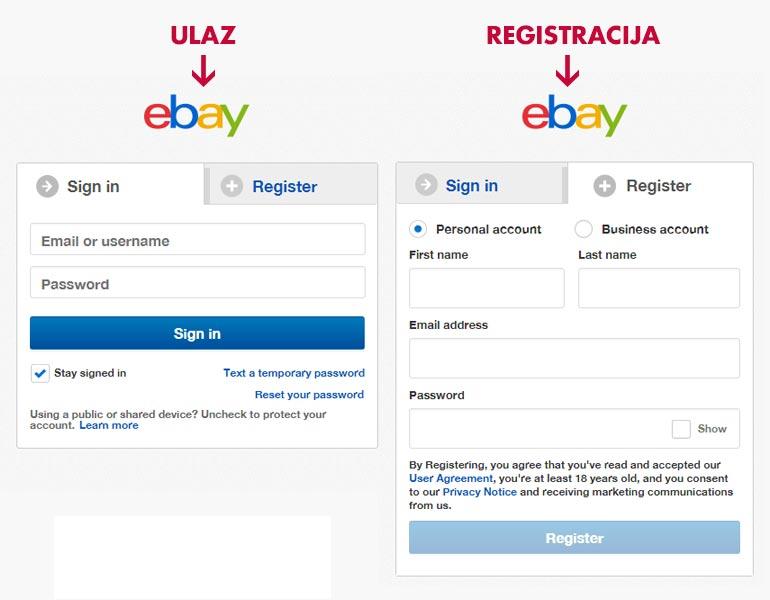 eBay USA pristupne forme