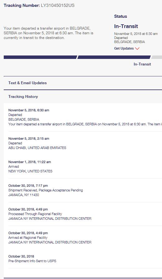 Statusi isporuke paketa
